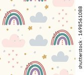 abstract backround with rainbow ...   Shutterstock .eps vector #1698561088