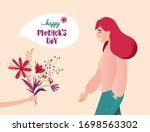 vector illustration of happy... | Shutterstock .eps vector #1698563302