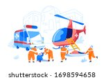 cooperation between air rescue... | Shutterstock .eps vector #1698594658