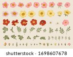 wild roses. independent floral... | Shutterstock .eps vector #1698607678