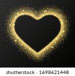 golden heart frame with...   Shutterstock .eps vector #1698621448