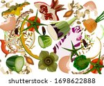 composting pile of rotting... | Shutterstock .eps vector #1698622888