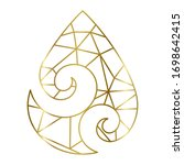 gold lines inside maori symbol...   Shutterstock .eps vector #1698642415