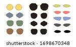 modern sunglasses  90s frames... | Shutterstock .eps vector #1698670348
