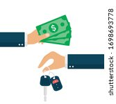 buy a car concept. hand holding ... | Shutterstock .eps vector #1698693778