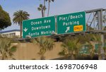 Street Signs To Santa Monica  ...
