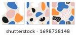 set of trendy hand drawn... | Shutterstock .eps vector #1698738148
