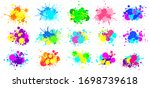 color splatter. colorful paint... | Shutterstock .eps vector #1698739618