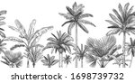 seamless horizontal tropical... | Shutterstock .eps vector #1698739732