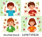 child immune system. healthy... | Shutterstock .eps vector #1698739828