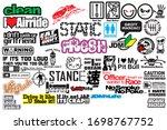 sticker pack jdm  car sticker ... | Shutterstock .eps vector #1698767752