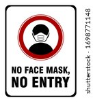 no face mask no entry policy... | Shutterstock .eps vector #1698771148