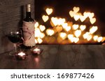 Valentine Background Of Wine...