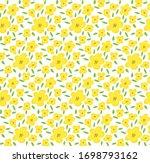 yellow flower seamless pattern  ... | Shutterstock .eps vector #1698793162
