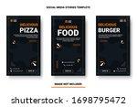 food menu banner social media... | Shutterstock .eps vector #1698795472