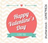 happy valentine's day card  ... | Shutterstock . vector #169879826