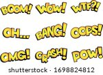 vector comic text boom  wow ... | Shutterstock .eps vector #1698824812