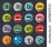 smart phones  laptops ... | Shutterstock .eps vector #1698829312