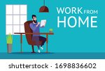 young men work at home protect...   Shutterstock .eps vector #1698836602