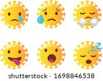 abstract corona emoji set.... | Shutterstock .eps vector #1698846538