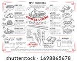 menu chinese cuisine restaurant ... | Shutterstock .eps vector #1698865678