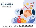 shake hand landing page... | Shutterstock .eps vector #1698870202