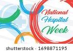 national hospital week. first... | Shutterstock .eps vector #1698871195