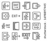 exit icons set on white... | Shutterstock .eps vector #1698897445
