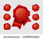 vector 3d realistic red sealing ... | Shutterstock .eps vector #1698903682