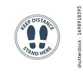 footprint floor sticker  foot... | Shutterstock .eps vector #1698918595