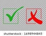 check mark icon set. green tick ... | Shutterstock .eps vector #1698944845