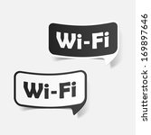 free zone wi fi  sticker | Shutterstock .eps vector #169897646