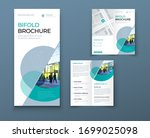 bi fold brochure or flyer... | Shutterstock .eps vector #1699025098