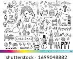 vector illustration of doodle...   Shutterstock .eps vector #1699048882