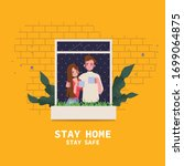 people stay at home avoid... | Shutterstock .eps vector #1699064875