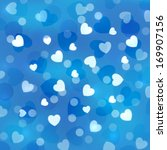 blue bokeh background with... | Shutterstock .eps vector #169907156
