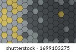 Abstract Hexagon Background...