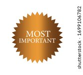 most important label icon with...   Shutterstock .eps vector #1699106782