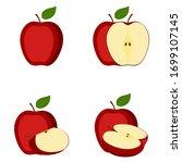 apple  whole fruit  half  slice ...   Shutterstock .eps vector #1699107145