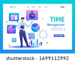 young businessman is engaged in ...   Shutterstock .eps vector #1699112992