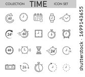 clock and time set icons....