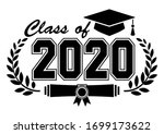 lettering class of 2020 for... | Shutterstock .eps vector #1699173622