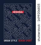 denim sport typography design ...   Shutterstock .eps vector #1699206835