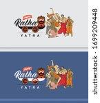 illustration of ratha yatra... | Shutterstock .eps vector #1699209448