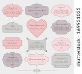vintage romantic frames set in... | Shutterstock .eps vector #169921025