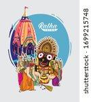 illustration of ratha yatra... | Shutterstock .eps vector #1699215748