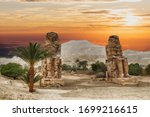 Colossus Of Memnon Sits In A...