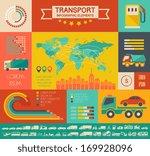 flat transportation infographic ... | Shutterstock .eps vector #169928096