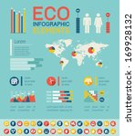 flat infographic elements.... | Shutterstock .eps vector #169928132