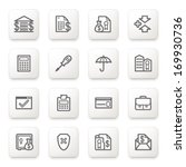 banking icons on white buttons. | Shutterstock .eps vector #169930736